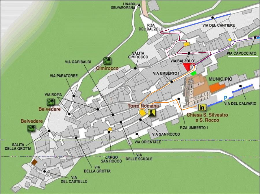 Bnb Gnomo Pennapiedimonte cartina di penna